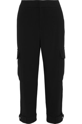 RAG & BONE Vera cropped satin-trimmed crepe straight-leg pants