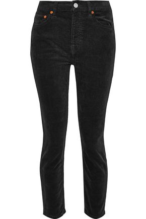 RE/DONE Cotton-blend corduroy skinny pants
