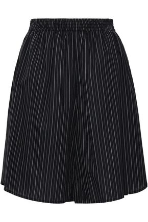 MM6 MAISON MARGIELA Gathered pinstriped cotton shorts