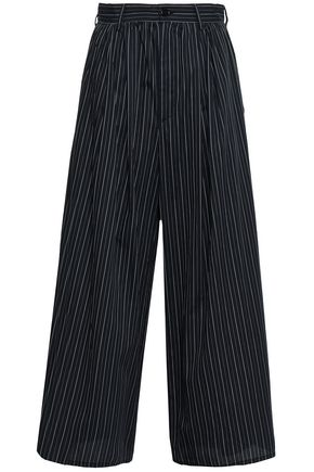 MM6 MAISON MARGIELA Pinstriped cotton wide-leg pants