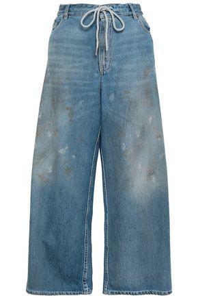 MM6 MAISON MARGIELA Distressed high-rise wide-leg jeans