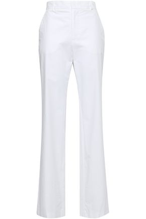 JOSEPH Cotton-poplin straight-leg pants