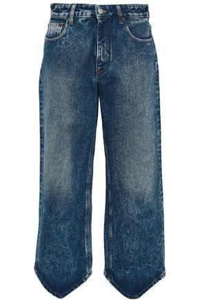 MM6 MAISON MARGIELA Cropped bleached high-rise wide-leg jeans