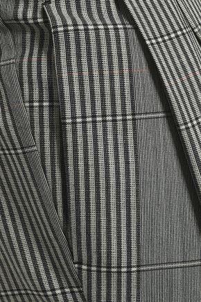 MAISON MARGIELA Prince of Wales checked wool wide-leg pants