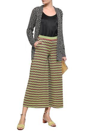 MISSONI Metallic crochet-knit culottes