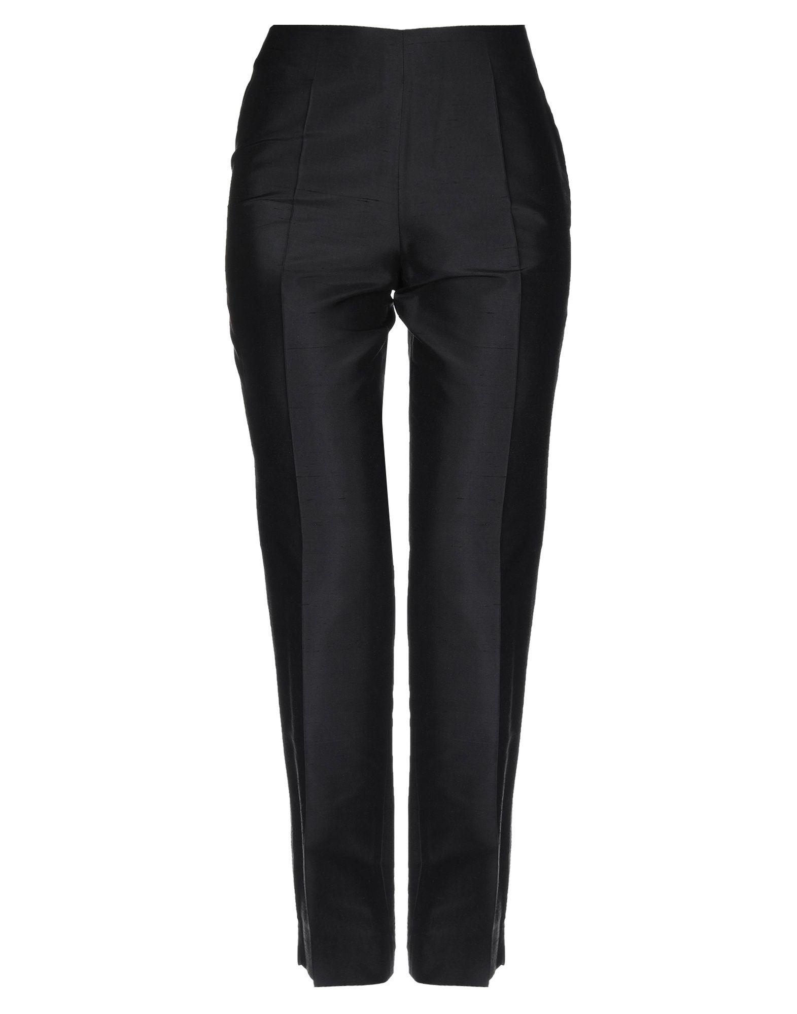 《期間限定セール中》CLIPS MORE レディース パンツ ブラック 40 シルク 100%