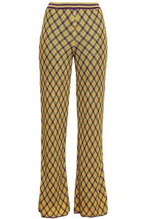 MISSONI | Missoni Metallic Crochet-Knit Straight-Leg Pants | Goxip