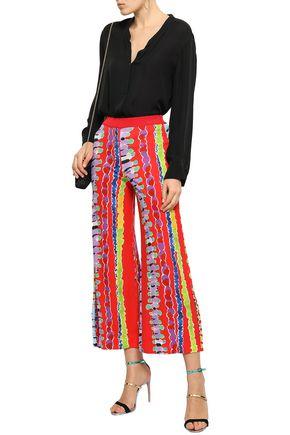 MISSONI Printed stretch-jersey culottes