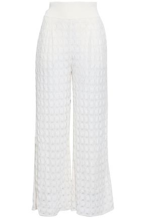MISSONI | Missoni Crochet-Knit Wide-Leg Pants | Goxip