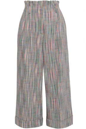 MISSONI Cotton and wool-blend canvas culottes