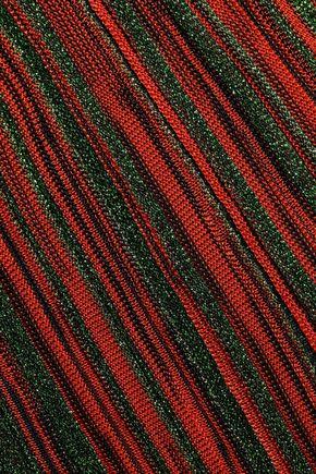 MISSONI Cropped metallic crochet-knit straight-leg pants