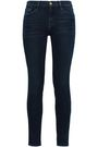 FRAME Faded mid-rise skinny jeans