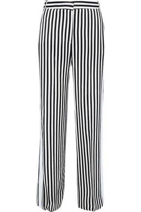 VICTORIA, VICTORIA BECKHAM Striped twill wide-leg pants