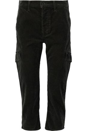 VINCE. Cropped cotton-corduroy tapered pants