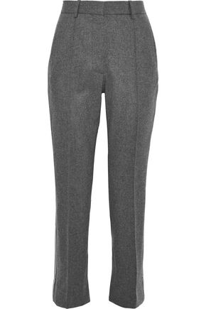 VICTORIA, VICTORIA BECKHAM Striped wool and cashmere-blend felt tapered pants