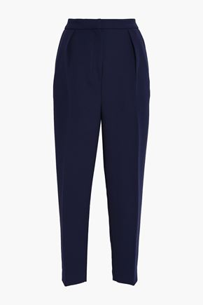 ROKSANDA Pleated twill tapered pants