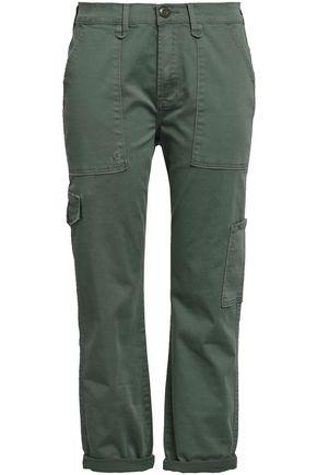 FRAME Cropped cotton-blend twill slim-leg pants