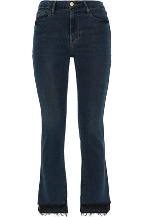 FRAME Le Crop Mini high-rise kick-flare jeans