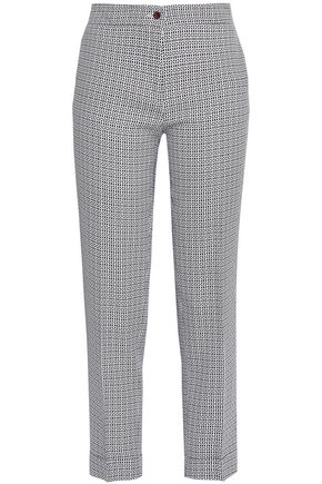 ETRO Printed crepe tapered pants