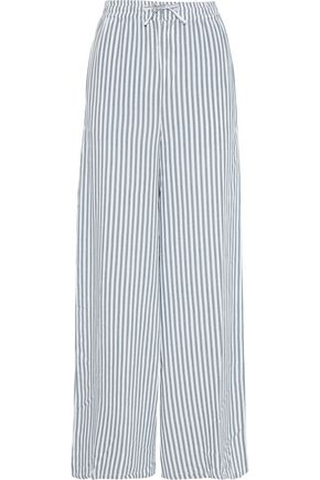 ONIA Chloe striped gauze wide-leg pants