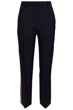 VICTORIA, VICTORIA BECKHAM Striped wool-gabardine straight-leg pants