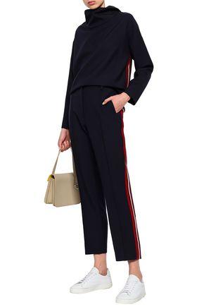 VICTORIA, VICTORIA BECKHAM Striped wool-gabardine straight-leg pants