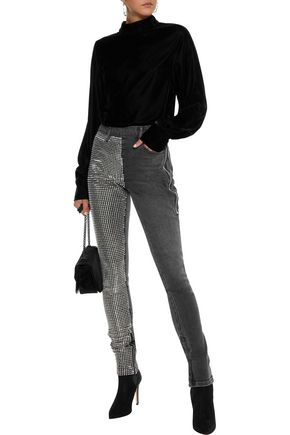 ALEXANDER WANG Studded mid-rise skinny jeans