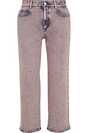 STELLA McCARTNEY Cropped faded high-rise straight-leg jeans
