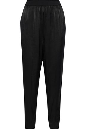 BY MALENE BIRGER Ietos satin and crepe de chine tapered pants