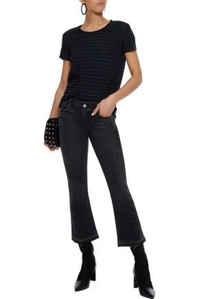 RTA Frayed low-rise kick-flare jeans