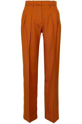 VICTORIA, VICTORIA BECKHAM Wool-gabardine straight-leg pants