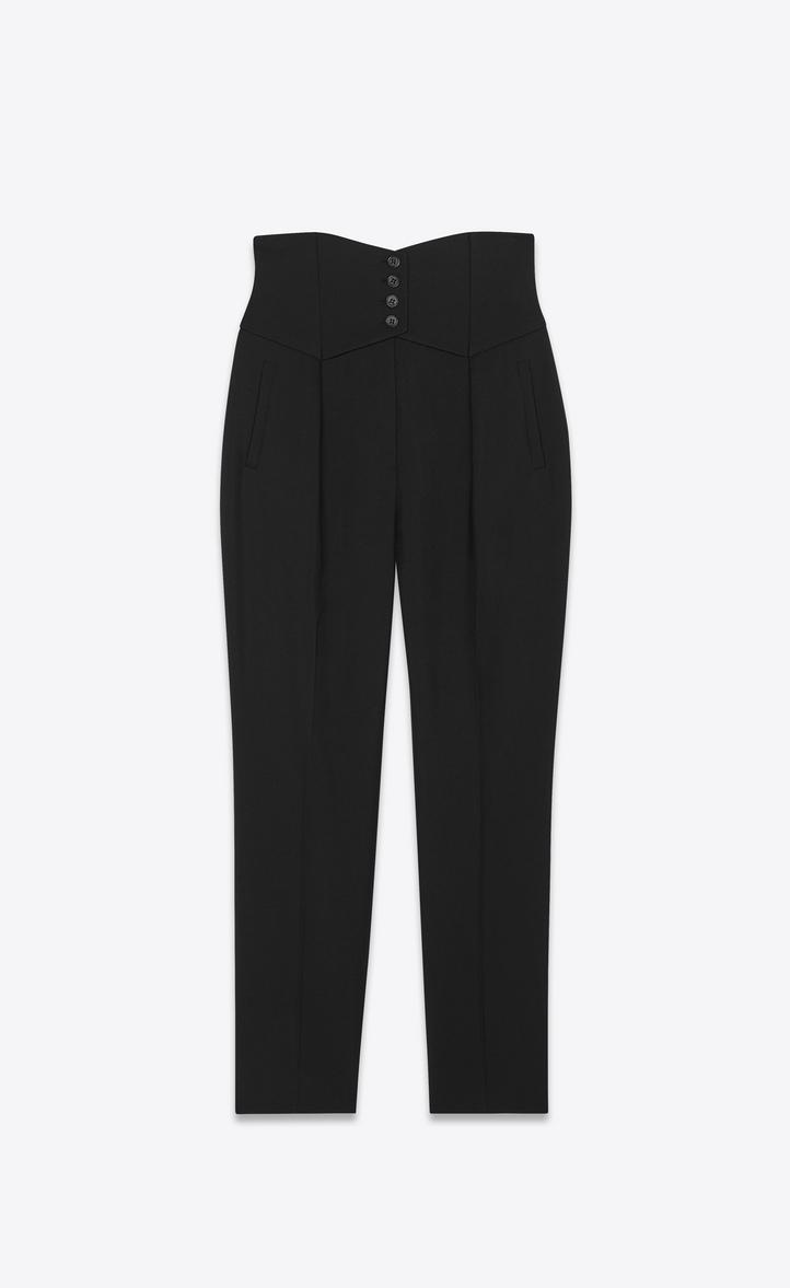 987249dc50 Pants with a button waist in Saint Laurent gabardine