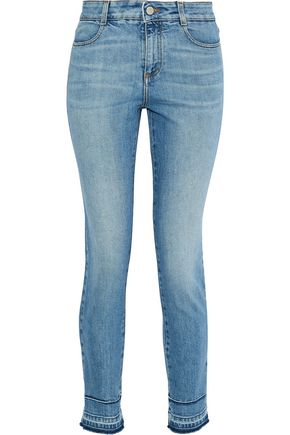 STELLA McCARTNEY Cropped mid-rise skinny jeans