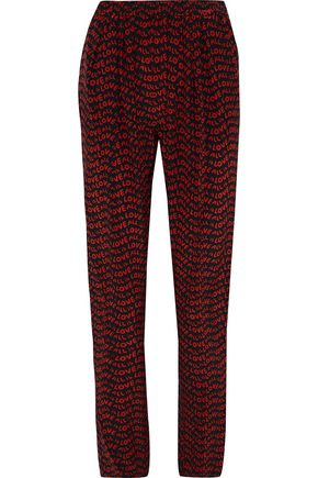 STELLA McCARTNEY Printed silk tapered pants