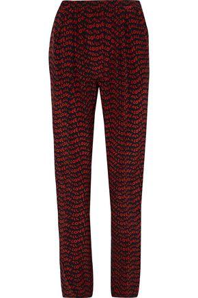STELLA McCARTNEY Printed silk tapered pants
