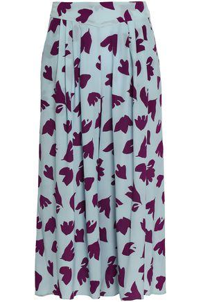 ETRO Pleated printed silk crepe de chine culottes