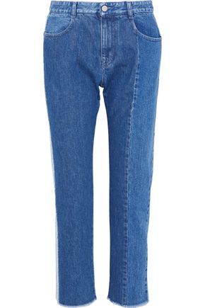 STELLA McCARTNEY Two-tone mid-rise straight-leg jeans