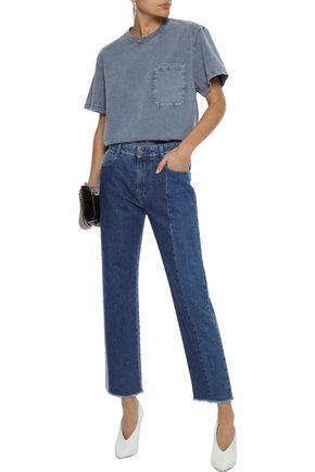 STELLA McCARTNEY Two-tone mid-rise straight-leg jeans