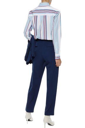 STELLA McCARTNEY Cropped wool-twill tapered pants