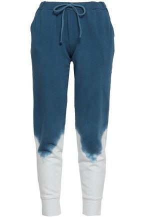 KAIN Tie-dyed cotton-fleece track pants