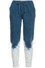 KAIN Tie-dyed cotton-fleece track pants