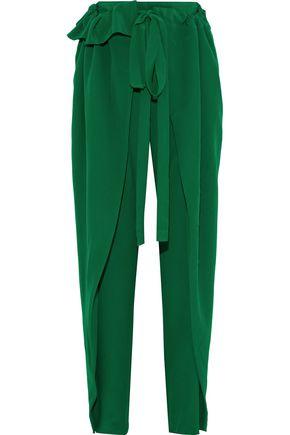 STELLA McCARTNEY Ruffle-trimmed silk wide-leg pants