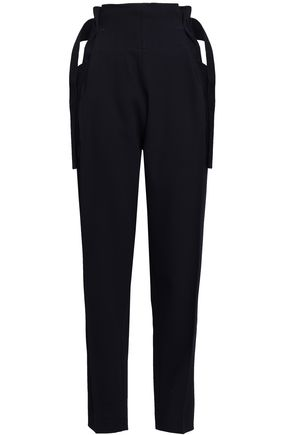 VICTORIA BECKHAM Belted wool-blend tapered pants