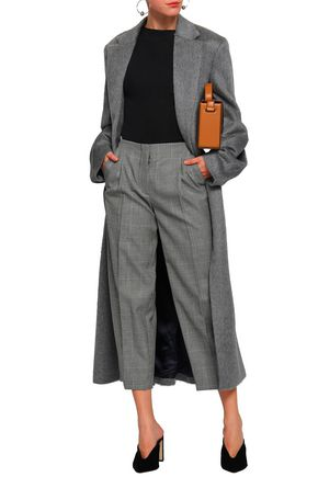 VICTORIA BECKHAM Cropped Prince of Wales checked wool tapered pants
