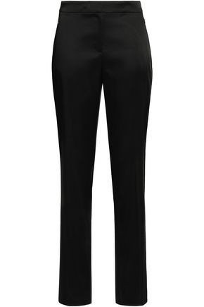 ELIE TAHARI Satin straight-leg pants