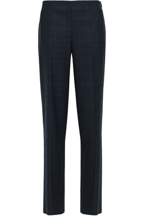 ELIE TAHARI Checked crepe wide-leg pants