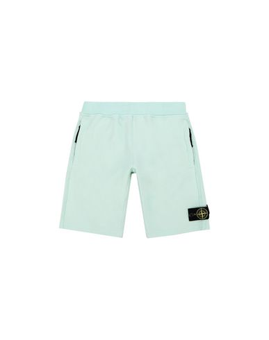 STONE ISLAND JUNIOR FLEECE BERMUDA SHORTS Man 62142 f