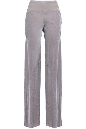 RICK OWENS Velvet wide-leg pants
