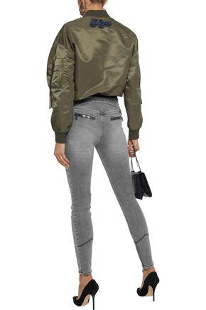 RTA Diavolina zip-detailed mid-rise skinny jeans