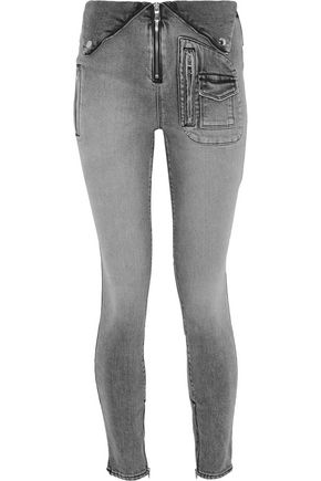 RTA Diavolina zip-detailed mid-rise skinny jeans